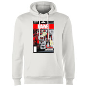 Marvel Deadpool Action Figure Hoodie - White