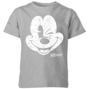 Disney Worn Face Kids' T-Shirt - Grey