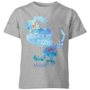 Disney Princess Filled Silhouette Ariel Kids' T-Shirt - Grey