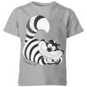 Disney Alice In Wonderland Cheshire Cat Mono Kids' T-Shirt - Grey
