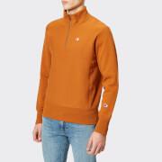 Champion Men's Half Zip Sweatshirt - Brown