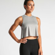 IdealFit Flowy Crop Top - Grey