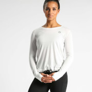IdealFit Long Sleeve Keyhole Top - White