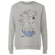 Frozen Elsa Sketch Strong Women's Sweatshirt - Grey