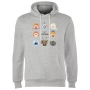 Frozen Emoji Heads Hoodie - Grey