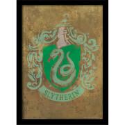 Affiche Encadrée Blason Serpentard Harry Potter - 30 x 40 cm