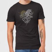 Harry Potter Thestral Line Art Men's T-Shirt - Black