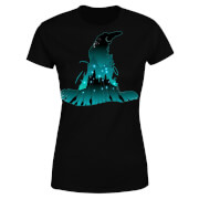 Harry Potter Hogwarts Silhouette Dames T-shirt - Zwart