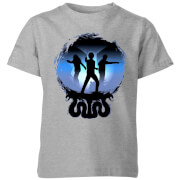 Harry Potter Silhouette Attack Kinder T-Shirt - Grau