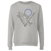 Harry Potter Werewolf Line Art Women's Sweatshirt - Grey