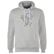Sweat à Capuche Homme Dessin au Trait Loup-Garou - Harry Potter - Gris
