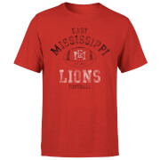 East Mississippi Community College Lions Football Distressed Men's T-Shirt - Red
