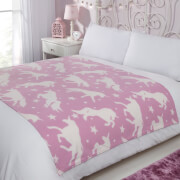 Dreamscene Unicorn Fleece Throw 120 x 150cm