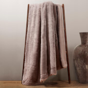 Dreamscene Faux Fur Plush Throw 125 x 150cm - Mink
