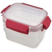 Joseph Joseph Nest Lock 3-Piece Container Set Of 3 - 1.1L - Red