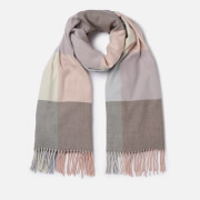Barbour Women's Pastel Check Scarf - Blue/Pink/Grey