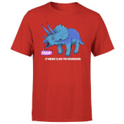 RAWR! It Means I Love You Men's T-Shirt - Red