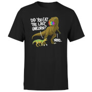 Dinosaur Unicorn Herren T-Shirt - Schwarz