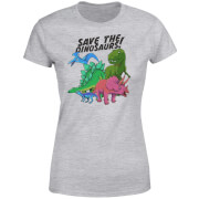 Save The Dinosaurs Women's T-Shirt - Grey