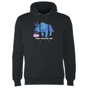 Rawr It Means I Love You In Dinosaur Hoodie - Black