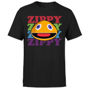 Rainbow Zippy Club Men's T-Shirt - Black