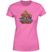 He-Man Masters Of The Universe Multi Character Women's T-Shirt - Pink