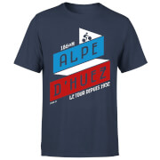 ALPE D'HUEZ Men's T-Shirt - Navy