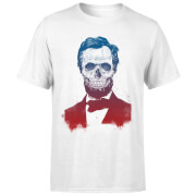 Suited And Booted Skull Men's T-Shirt - White