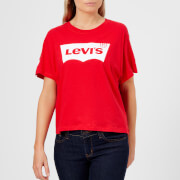 Levi's Women's Graphic T-Shirt - Sporty Housemark Chinese Red
