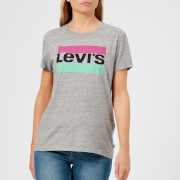 Levi's Women's The Perfect T-Shirt - Pastel Logo Smokestack Heather