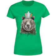 Native Bear Women's T-Shirt - Kelly Green