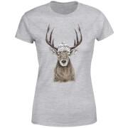 Winter Deer Women's T-Shirt - Grey