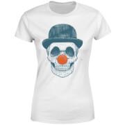 Red Nosed Skull Women's T-Shirt - White