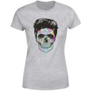 Colourful Skull Women's T-Shirt - Grey