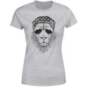 Bandana Lion Women's T-Shirt - Grey