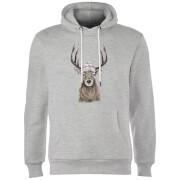 Winter Deer Hoodie - Grey