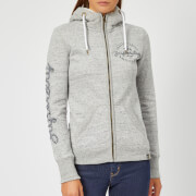 Superdry Women's Aria Applique Zip Hoodie - Slate Grey Marl