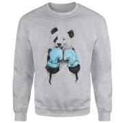 Boxing Panda Sweatshirt - Grey