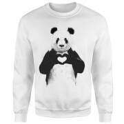 Panda Love Sweatshirt - White
