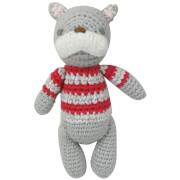 Albetta Crochet Bulldog Rattle Toy