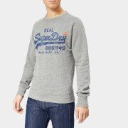 Superdry Men's Vintage Logo Panel Stripe Crew Sweatshirt - Phoenix Grey Grit