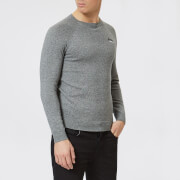 Superdry Men's Orange Label Cotton Crew Neck Jumper - Ash Grey Grit