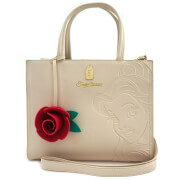 Loungefly Disney Beauty and the Beast Belle Embossed Charm Bag