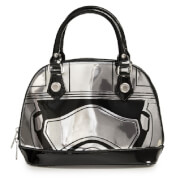 Loungefly Star Wars Captain Phasma Silver Metallic Embossed Dome Bag