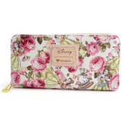 Loungefly Disney Beauty and the Beast Character Floral AOP Wallet