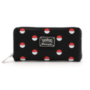 Loungefly Pokémon Black with Pokéballs AOP Wallet