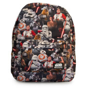 Loungefly Star Wars The Force Awakens Multi Character Nylon Backpack