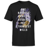T-Shirt Homme The Strongest Will & Thanos Avengers - Noir