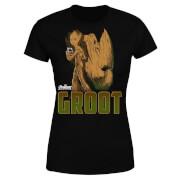 Camiseta Marvel Vengadores Groot - Mujer - Negro