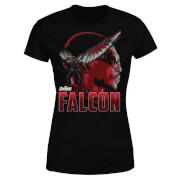 Avengers Falcon Damen T-Shirt - Schwarz